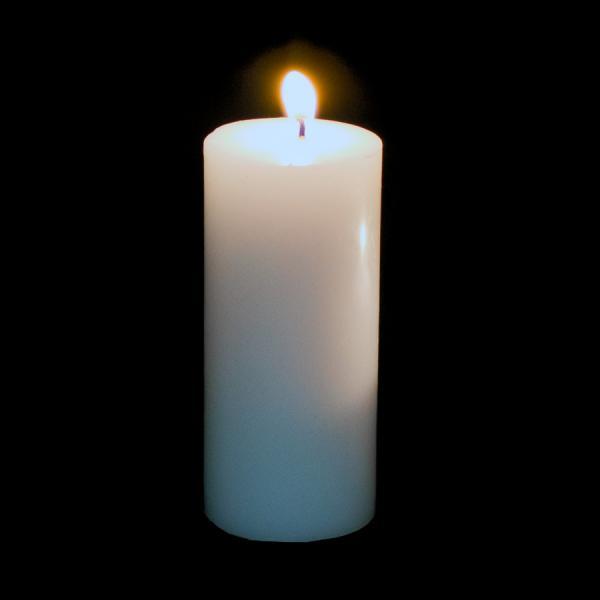 DecoStar: Pillar Candle 6'' - 24 Pieces - White