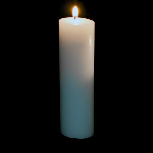 DecoStar: Pillar Candle 9'' - 12 Pieces - White