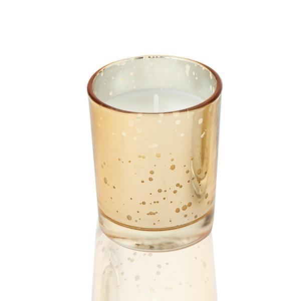 DecoStar: Unscented Poured Glass Votive Candles - 72 Pieces - 2'' - Gold