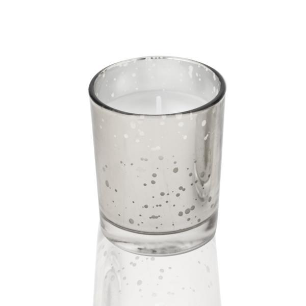 DecoStar: Unscented Poured Glass Votive Candles - 72 Pieces - 2'' - Silver