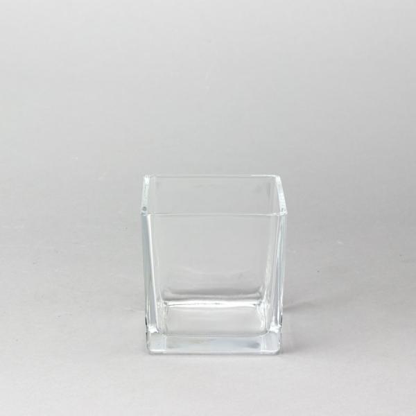 DecoStar: Glass Square Cube Vase 4''- 18 Pieces