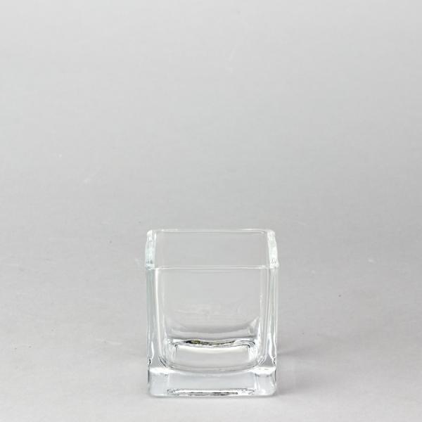 DecoStar: Glass Square Cube Vase 2 3/8'' - 96 Pieces