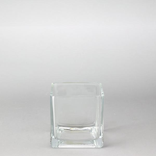 DecoStar: Glass Square Cube Vase 3 1/4'' - 48 Pieces