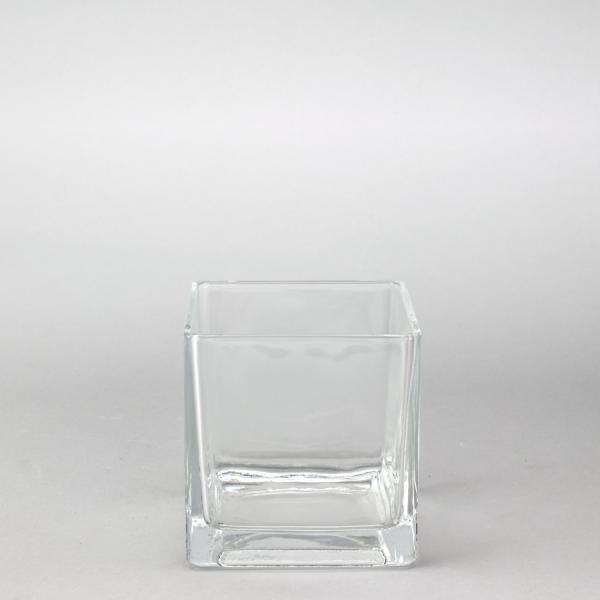 DecoStar: Glass Square Cube Vase 5'' - 12 Pieces