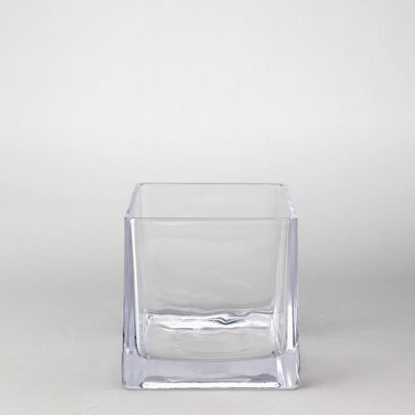 DecoStar: Glass Square Cube Vase 6'' - 12 Pieces