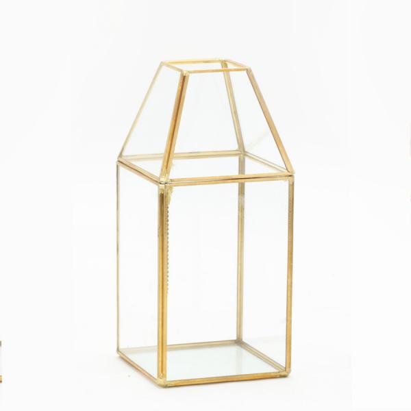 DecoStar: Terrarium Display 9?''- 12 Pieces- Gold