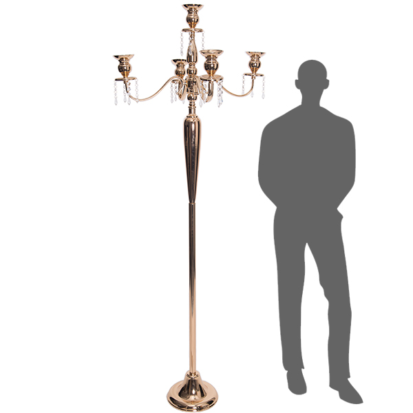 The Antiquity - MASSIVE 6ft TALL 4-Arm Candelabra - Soft Gold - by DecoStar: