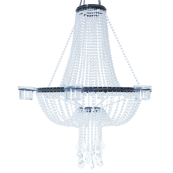 Empire Chandelier 6 Candle Holder - Crystal Iridescent