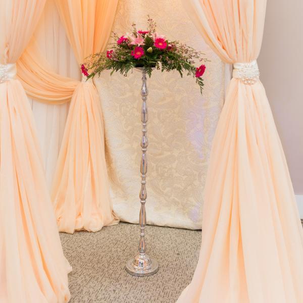 Large Silver Pillar Pedestal - 49''