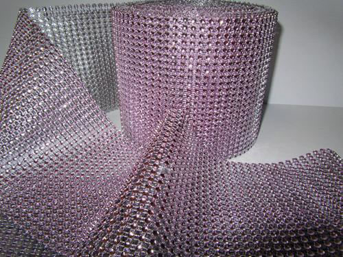 DISCONTINUED ITEM - DecoStar: Soft Pink Rhinestone Mesh - 30 Foot Roll
