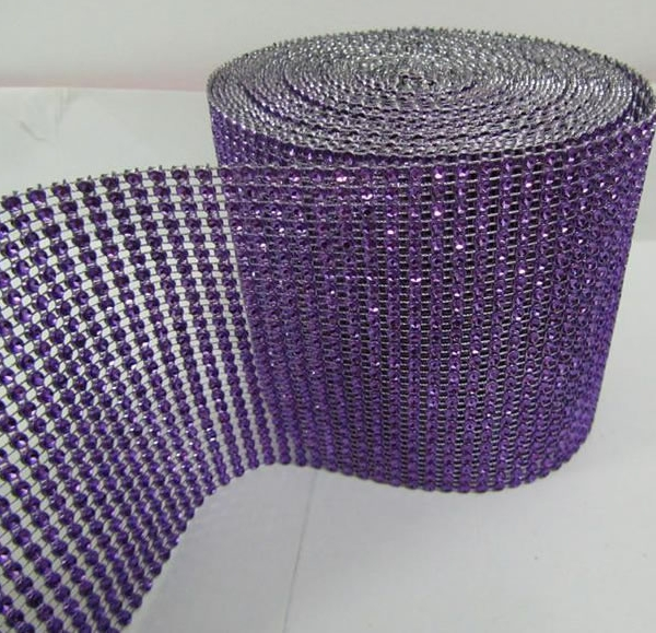 DISCONTINUED ITEM - DecoStar: Violet Rhinestone Mesh - 30 Foot Roll
