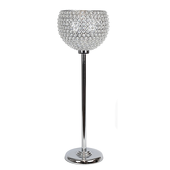 "DecoStar™ Real Crystal Globe Pillar - 31"" Tall!"