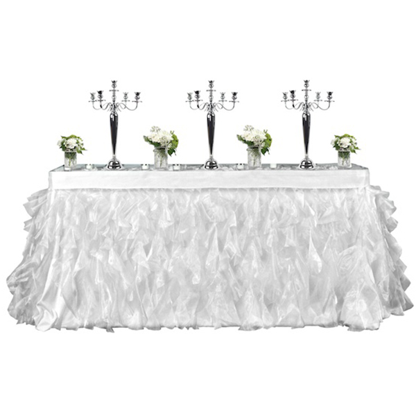 ace0940af7 Ivory or White Tutu Table Skirt   Organza Velcro Table Skirt