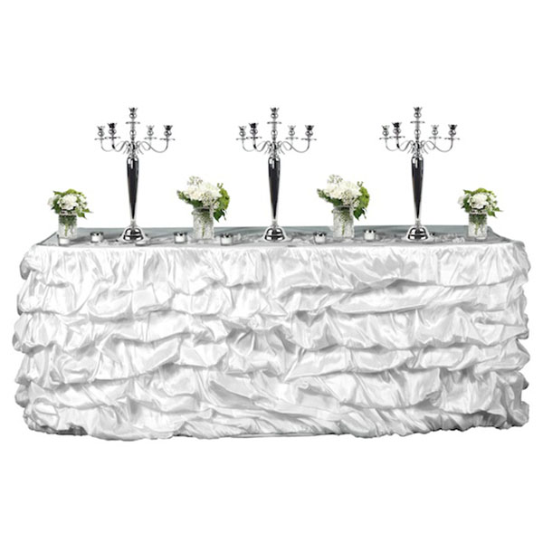 good Satin Table Skirt Part - 9: Event Decor Direct