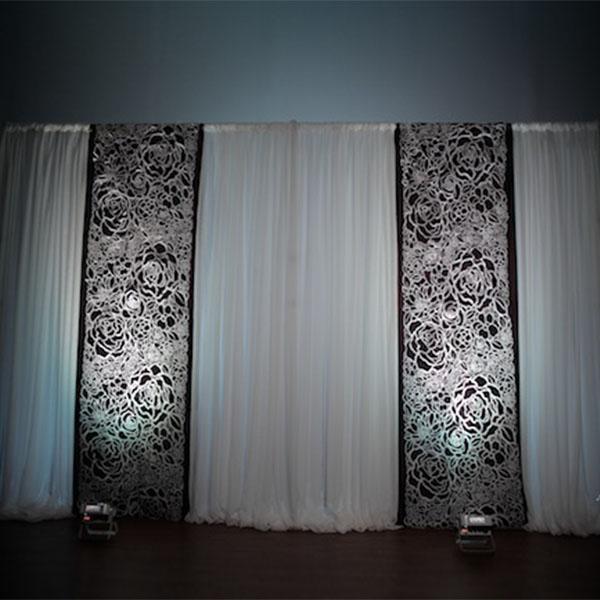 White Floral Felt Cutout For Backdrop Panel 18ft