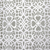White Patterned Felt Cutout for Backdrop Panel - 14ft