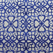 Royal Blue Patterned Felt Cutout for Backdrop Panel - 10ft