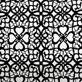 Black Patterned Felt Cutout for Backdrop Panel - 18ft