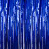 Flag Blue - Metallic Fringe Curtain - Many Size Options