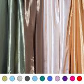 "*FR* Extra Wide 10ft Tall Taffeta Drape Panel by Eastern Mills 9 1/2 FT Wide w/ 4"" Sewn Rod Pocket in Choice of 28 Colors!"