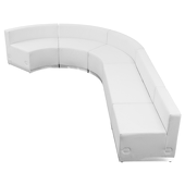 "Titan Series Leather Reception Configuration Style ""Y"" 5 Pieces ""White"""