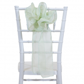 "DecoStar™ 9"" Sheer Flower Chair Accent - Fog Green"