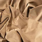 "FR Taupe Casablanca Velvet Designer Drape by Eastern Mills  - Choose your Length - 57"" Wide"