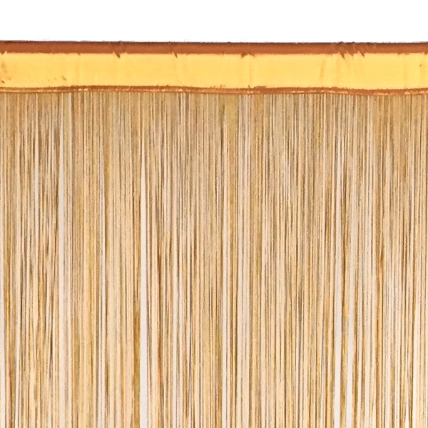 String Curtain   6.6ft Wide X 10ft Tall   1700 Strings   GOLD [ZA FRINGE  10FT GLD]