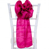 "DecoStar™ 9"" Crushed Taffeta Flower Chair Accent - Fuchsia"