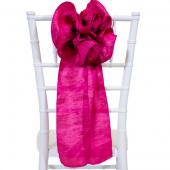 "DecoStar™ 9"" Crushed Taffeta Flower Chair Accent - Fuchsia"