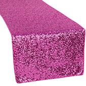 Standard Sequin Table Runner by Eastern Mills - Fuchsia