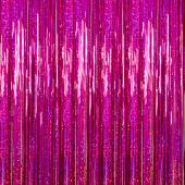 Fuchsia - Holographic Fringe Curtain - Many Size Options