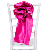 "DecoStar™ 9"" Satin Flower Chair Accent - Fuchsia"