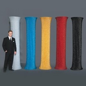 Glitter Fabric Covered Column