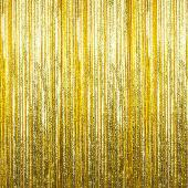 Gold - Cracked Ice Fringe Curtain - Many Size Options