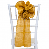 "DecoStar™ 9"" Crushed Taffeta Flower Chair Accent - Gold"