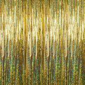 Gold - Holographic Fringe Curtain - Many Size Options