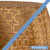 Gold - Links Designer Tablecloths by Eastern Mills - Many Size Options