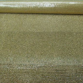 "DISCONTINUED ITEM - DecoStar™ Rhinestone Mesh Sheet - 4ft Long x 18"" Wide - Gold"