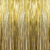 Gold - Metallic Fringe Curtain - Many Size Options
