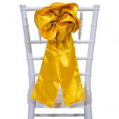 "DecoStar™ 9"" Satin Flower Chair Accent - Gold"