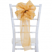 "DecoStar™ 9"" Sheer Flower Chair Accent - Gold"