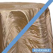 Gold - Stormy Tablecloths - DOUBLE-SIDED - MANY SIZE OPTIONS