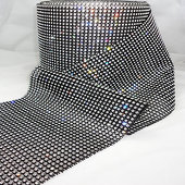DISCONTINUED ITEM - DecoStar™ Real Rhinestone Mesh - 30 Foot Roll - SUPER SPARKLE