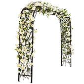 Grand Brown Metal Ceremony Arch - 11' 6