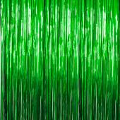 Green - Metallic Fringe Curtain - Many Size Options