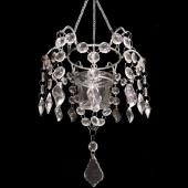 DecoStar™ Hanging Acrylic Single Candle Holder - Crystal Clear - Style #7