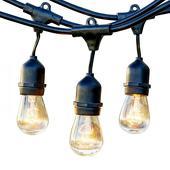 Hanging Cafe Light Strand - Comes w/ 28 Bulbs - 54ft Strand
