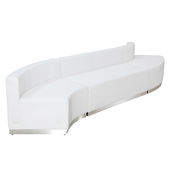 "Titan Series Leather Reception Configuration Style ""G"" 3 pieces ""White"""