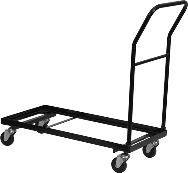 Steel Folding Chair Storage Dolly Fits FeatherXT Folding Chairs